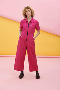 Lucy & Yak Boilersuit Ragan Boilersuit In Pink Yarrow