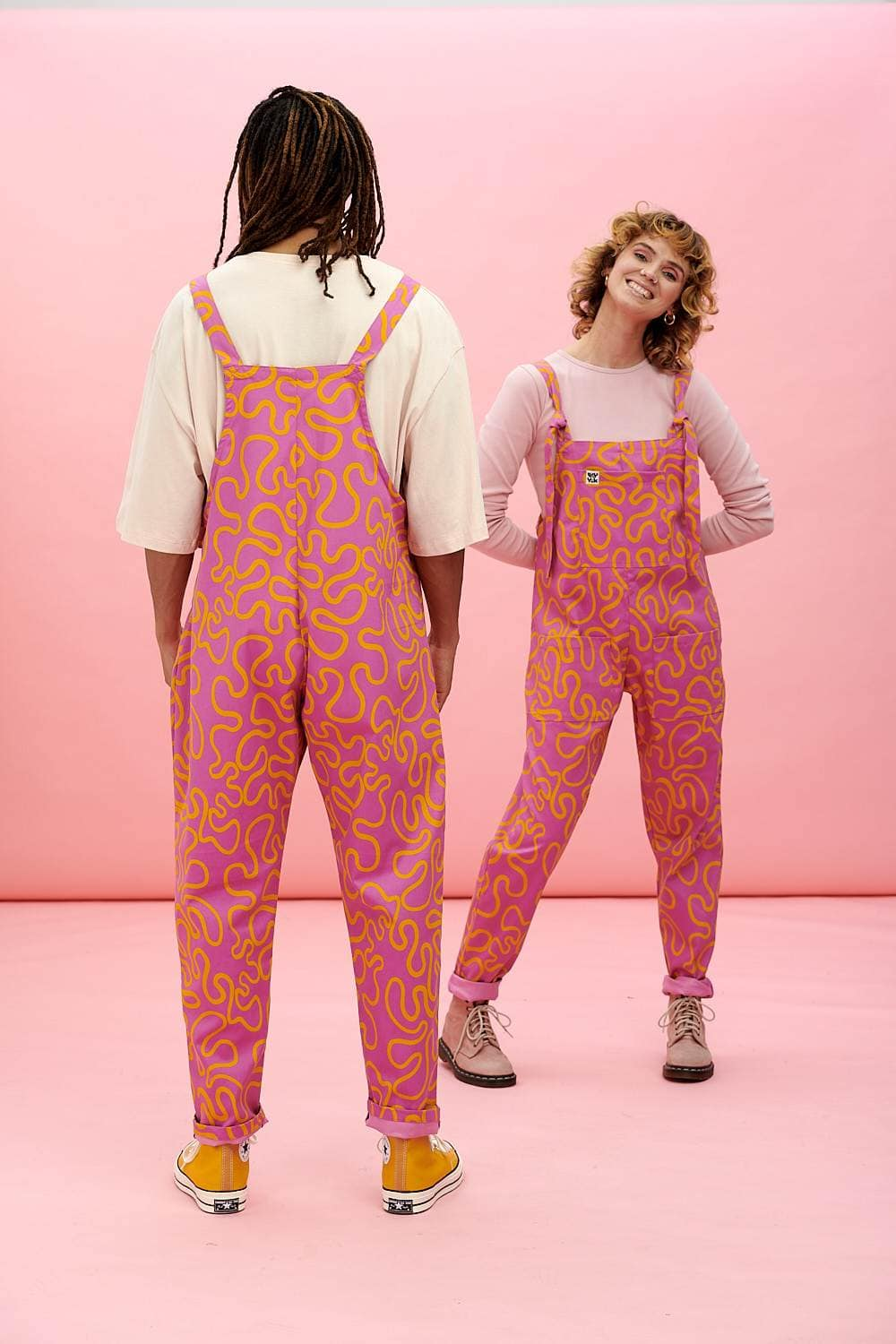 Lucy & Yak Dungarees Meri Limited Edition Dungarees - Squiggle Print