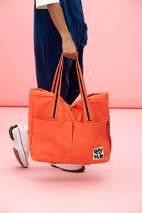 Lucy & Yak Bag Dakota Organic Cotton Yoga Bag in Living Coral