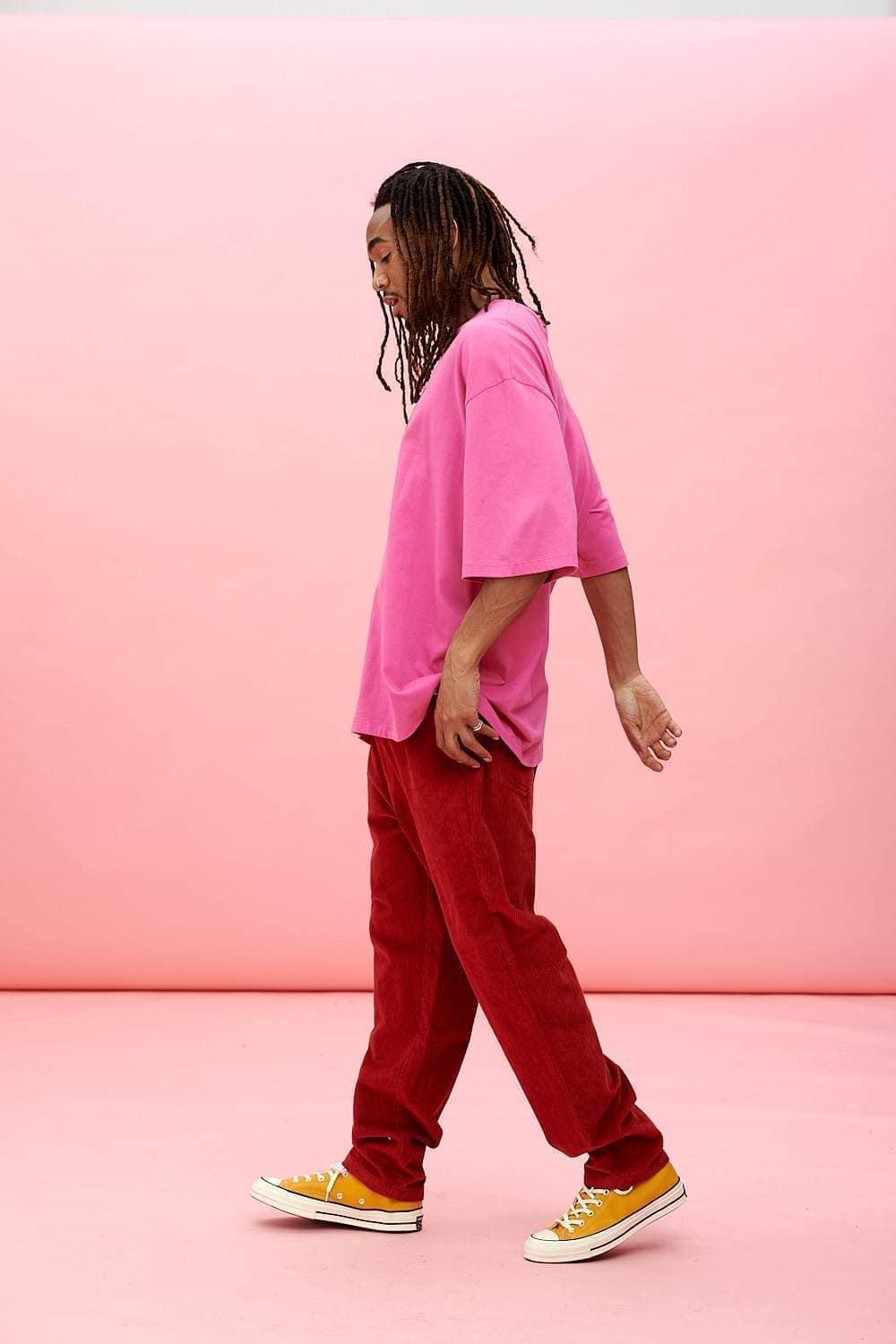 Lucy & Yak trousers Dallas Trousers In Haute Red
