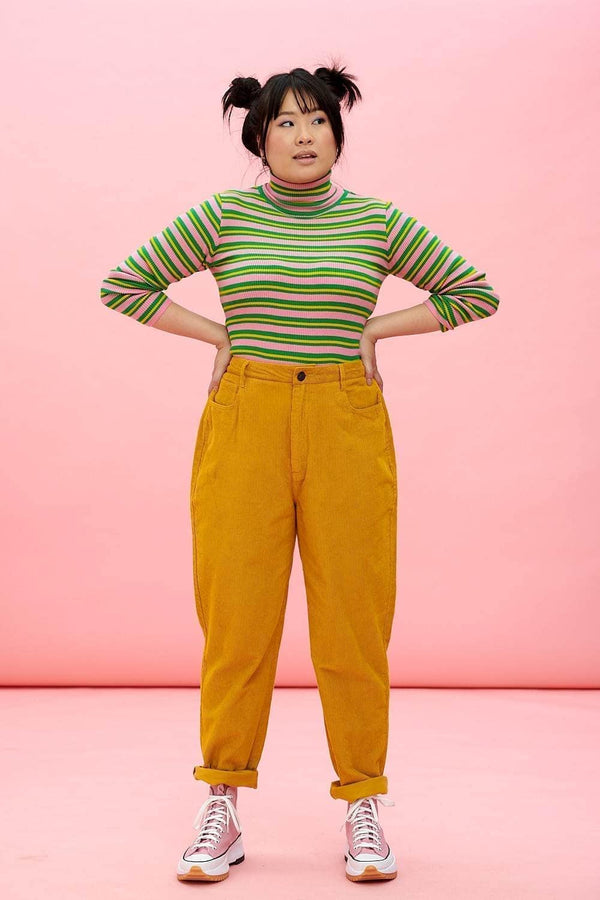 Lucy & Yak trousers Dallas Organic Cotton Trousers In Tawny Mustard