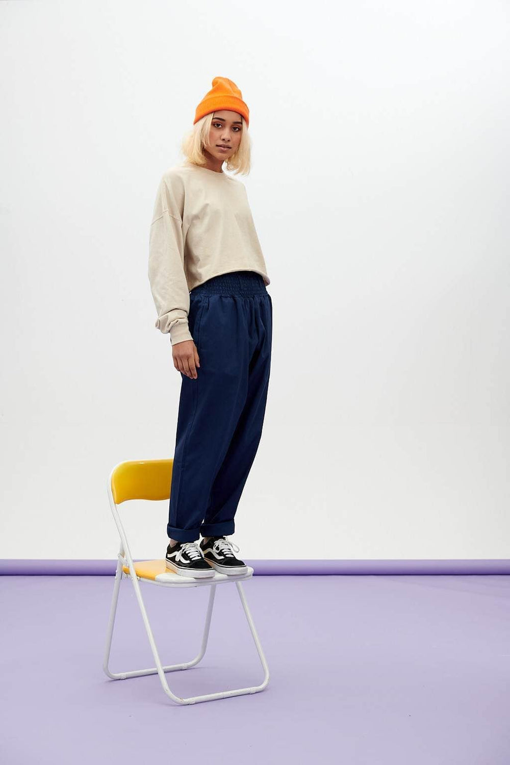 Lucy & Yak trousers Alexa Trousers In Navy Peony