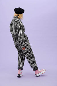 Lucy & Yak Boilersuit Frankie Organic Cotton Boilersuit In Lulu Print