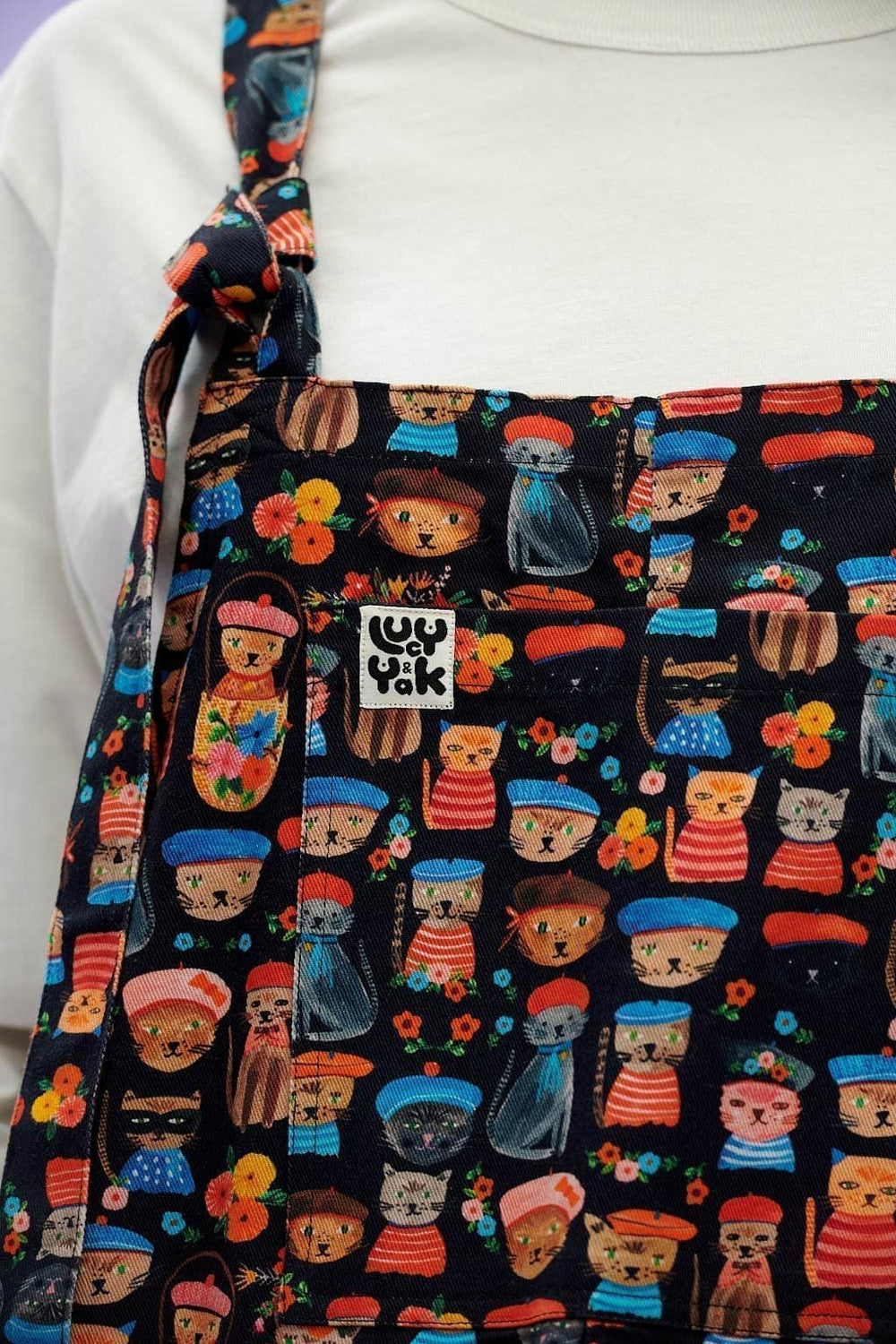 Lucy & Yak Dungarees Original Organic Cotton Dungarees in Cats Print