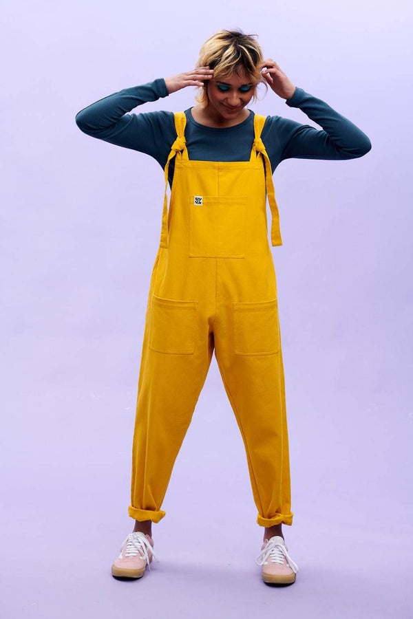 Lucy & Yak Dungarees Atlas Organic Heavy Twill Dungarees in Old Gold Yellow