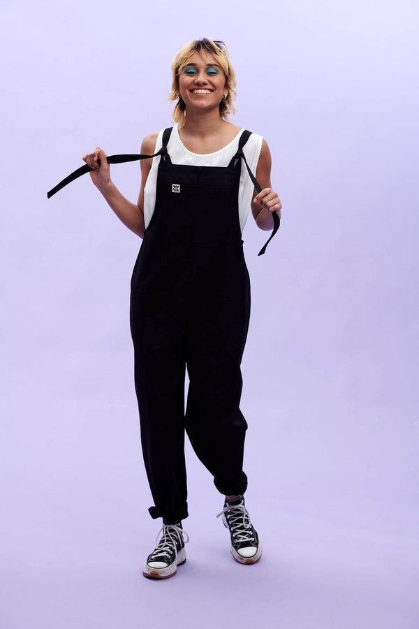 Lucy & Yak Dungarees Atlas Organic Heavy Cotton Twill Dungarees in Black