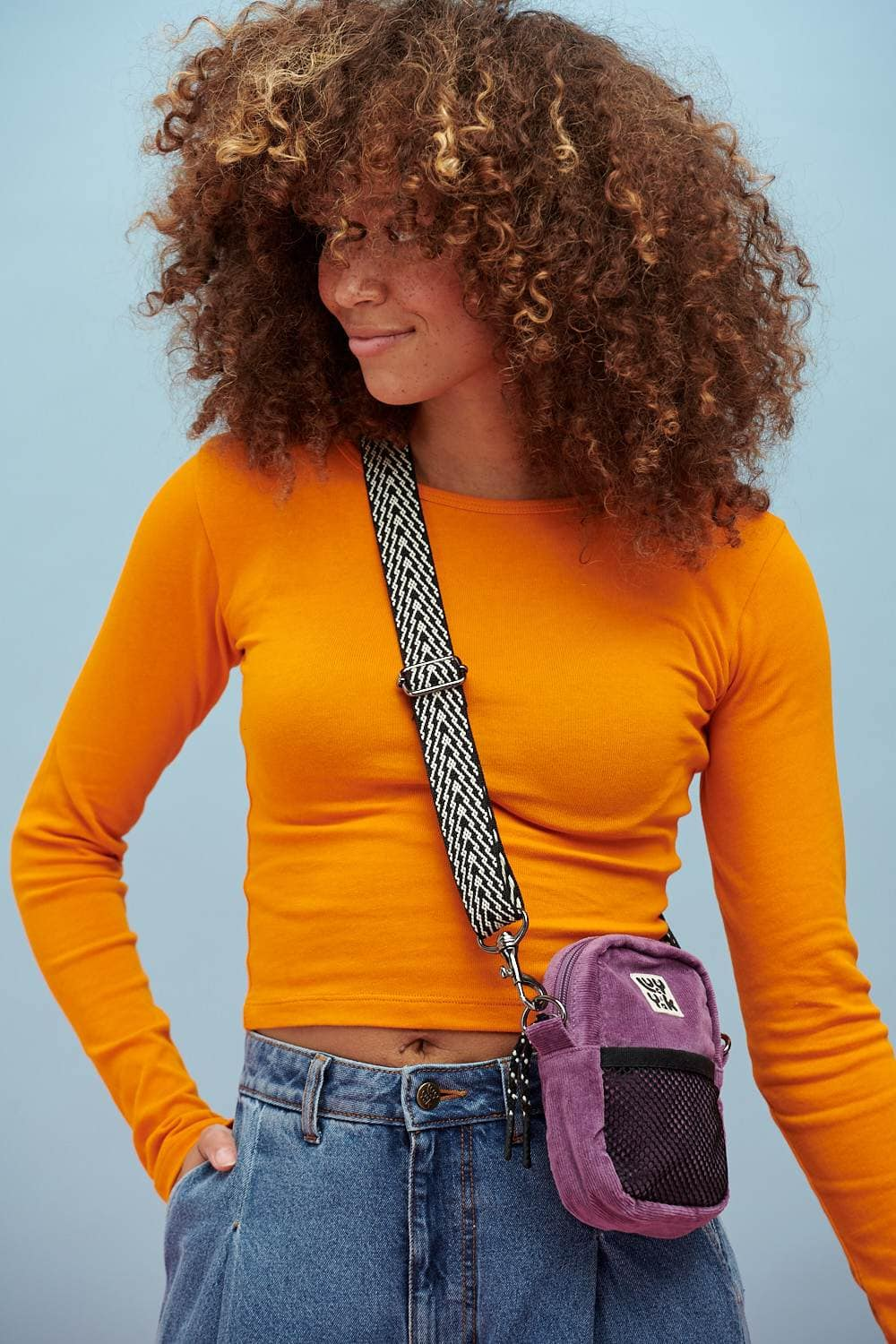Lucy & Yak Bag Brady Mini Cross Body Bag In Grape