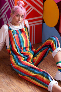 Lucy & Yak Dungarees 'Rainbowz' Limited Edition Striped Dungarees