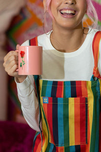 'Rainbowz' Limited Edition Striped Dungarees