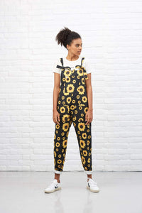 'Sunflower' Limited Edition Digital Print Dungarees