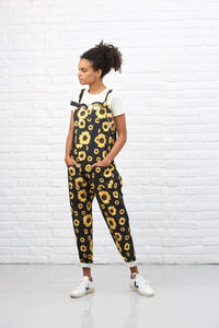 Lucy & Yak Dungarees 'Sunflower' Limited Edition Digital Print Dungarees