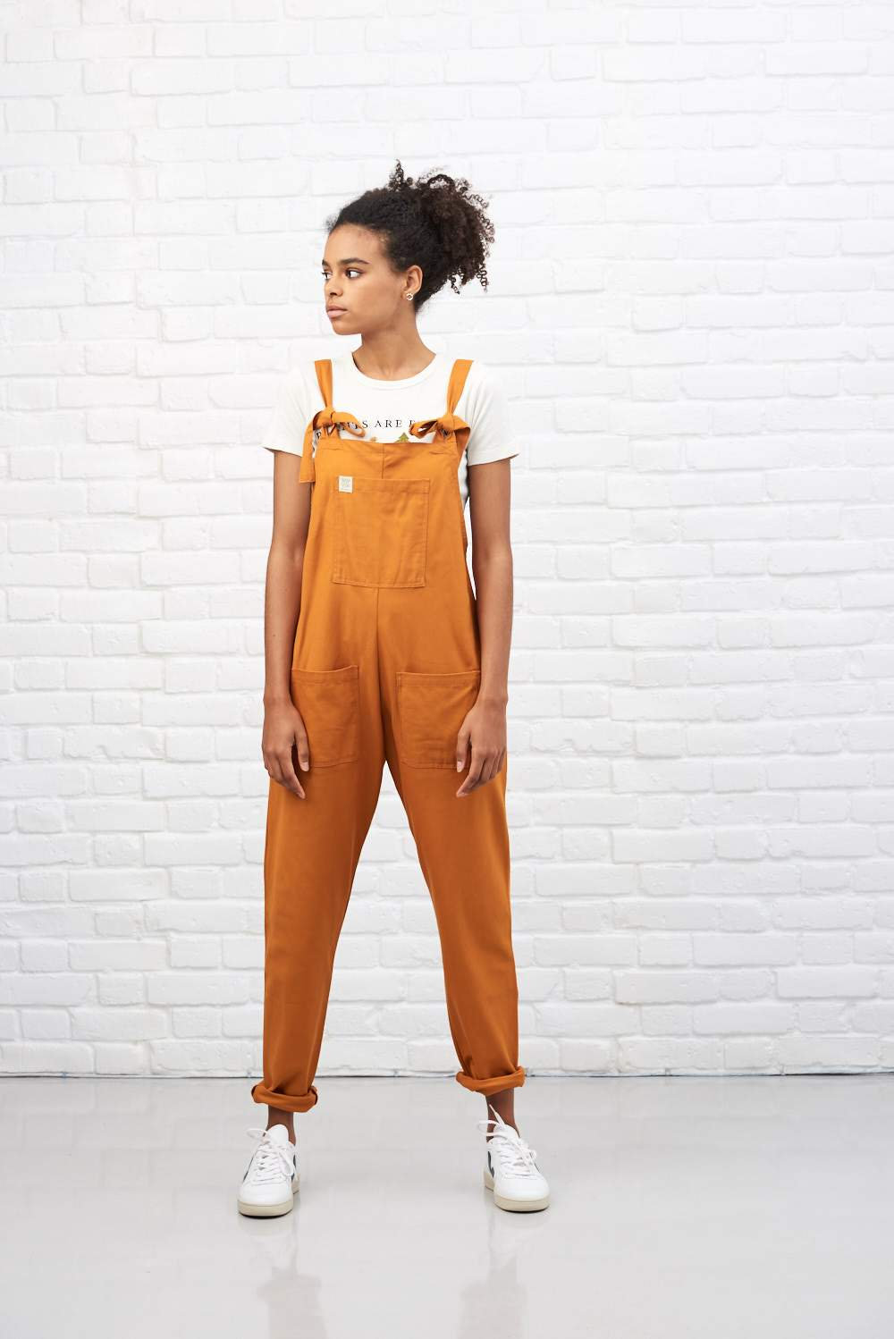 Lucy & Yak Dungarees Organic 'Umi' Cotton Dungarees in Rust Orange