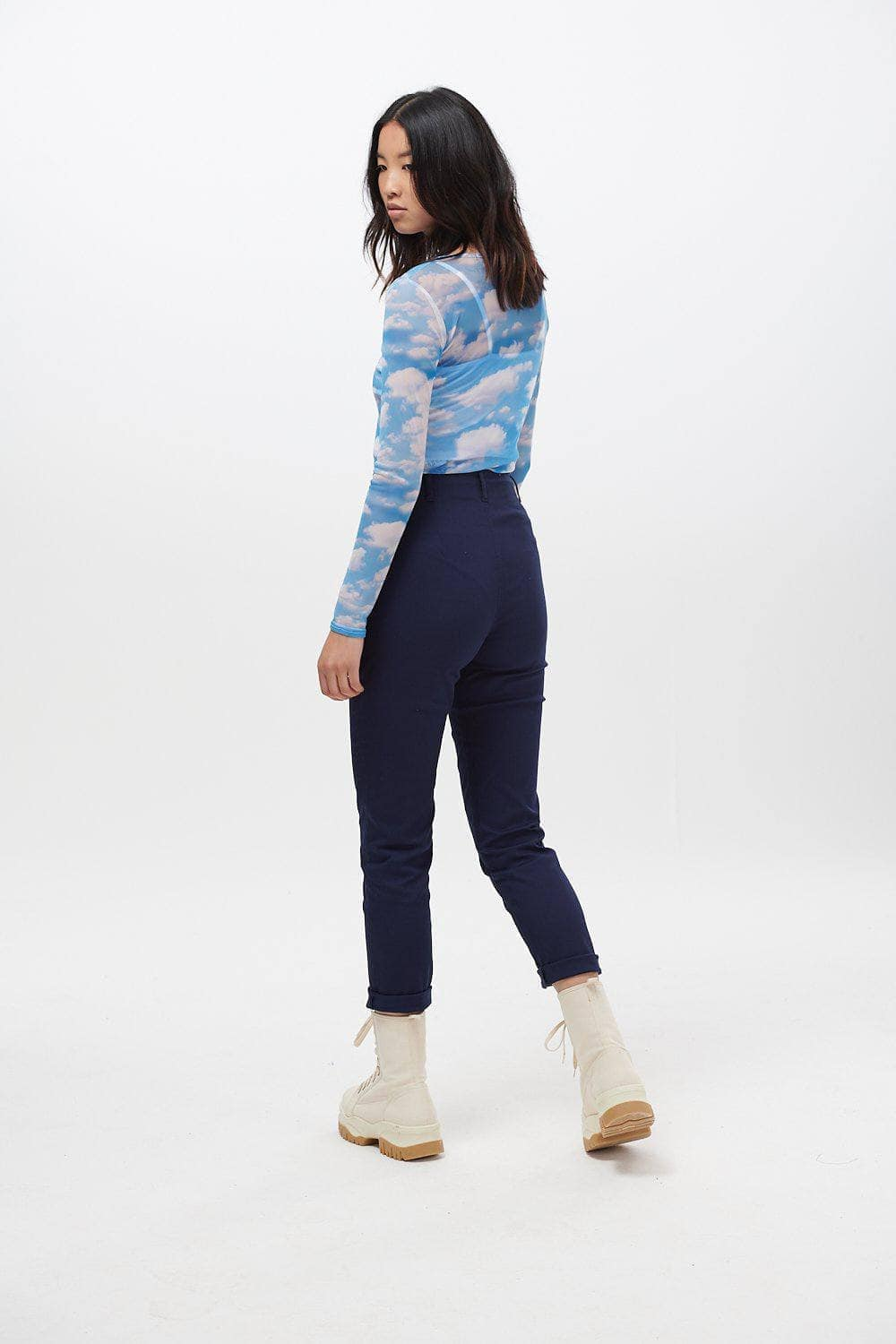 Lucy & Yak trousers Camden Trousers In Navy Blue - Improved Fit