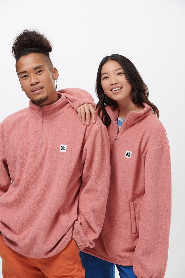 Lucy & Yak Tops 'Stevie' Fleece in Ash Pink