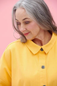 Lucy & Yak Jacket Olly Organic Cotton Jacket in Lemon Drop Yellow
