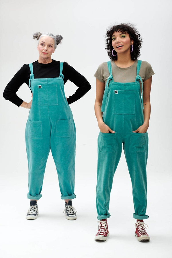 Lucy & Yak Dungarees Original Organic Corduroy Dungarees In Blue Raspberry