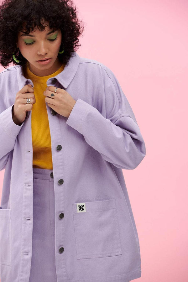 Lucy & Yak Jacket Olly Jacket In Lavendula Lilac