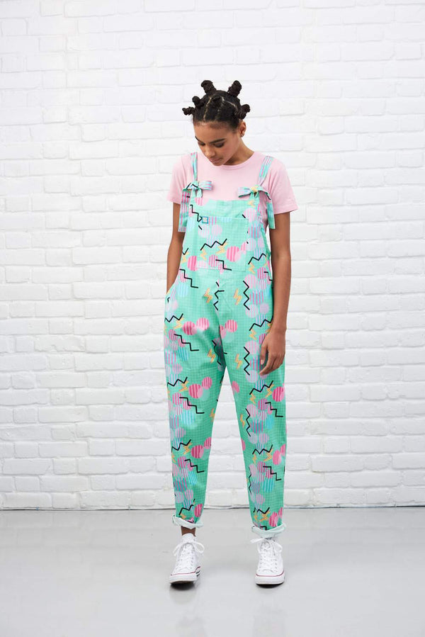 Lucy & Yak Dungarees 'Kapeesh' Limited Edition Artist collaboration Dungarees