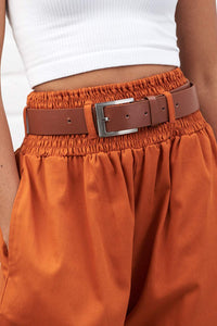 Lucy & Yak Belt High Waisted Faux Leather Belt in Tan