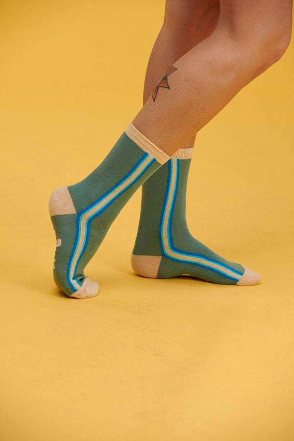 Lucy & Yak Socks The Sundaze Collection - 'Trey' Organic Cotton Socks