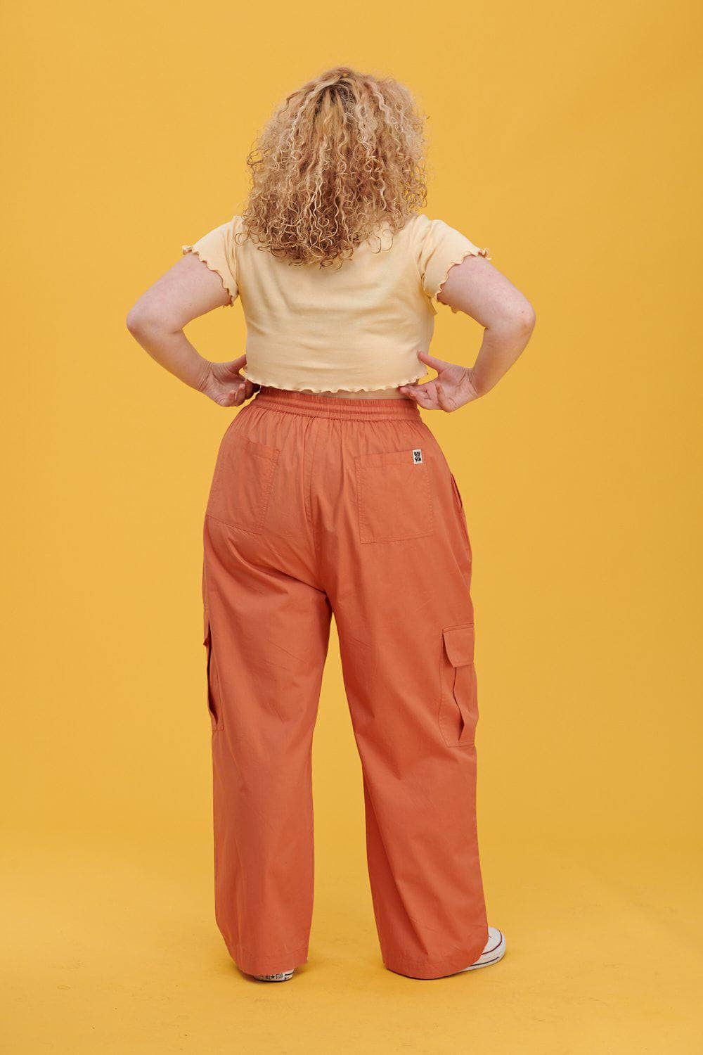 Lucy & Yak trousers Matchu Cargo Parts In Dusted Clay