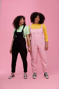 Lucy & Yak Dungarees Atlas Heavy Cotton Twill Dungarees in Baby Pink