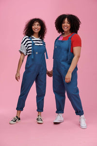 Lucy & Yak Dungarees Atlas Organic Heavy Twill Cotton Dungarees in Petrol Blue