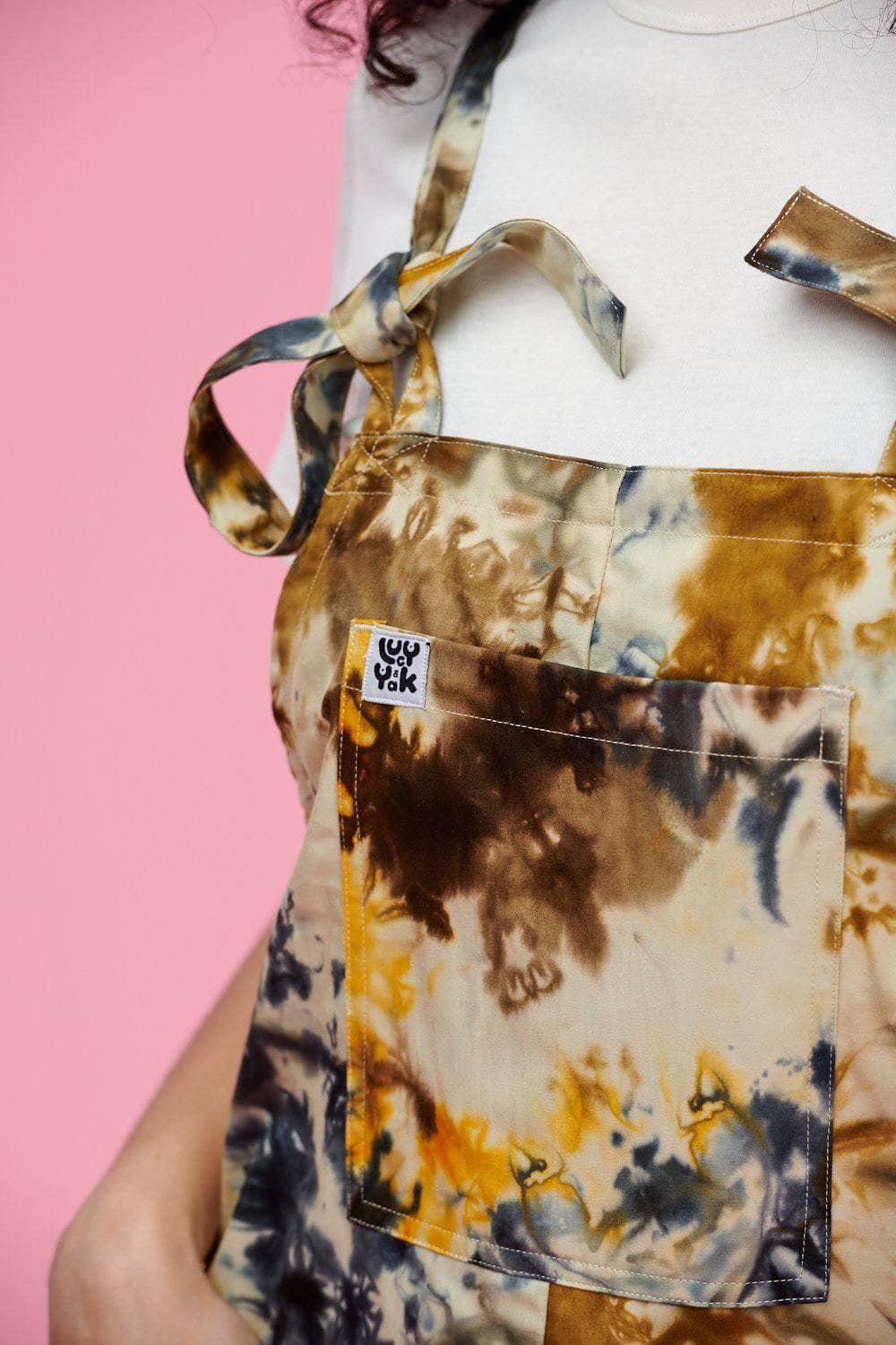 Lucy & Yak Dungarees Tyler Limited Edition Dungarees In Earthy Tie Dye Print