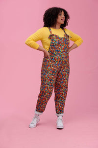 Lucy & Yak Dungarees Lily Limited Edition Cotton Dungarees in Floral Print by Carolyn Gavin