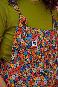 Lucy & Yak Dungarees Lily Limited Edition Cotton Dungarees In Floral Print