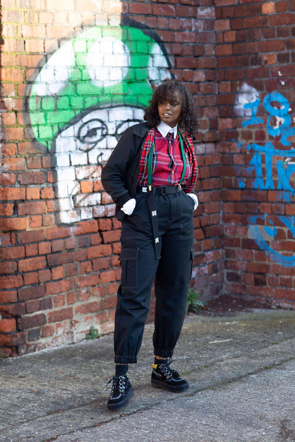 Lucy & Yak trousers Made In Britain - Kirkby Cargo Pants In Black