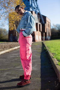 Lucy & Yak trousers Made In Britain - Kirkby Cargo Pants In Strawberry