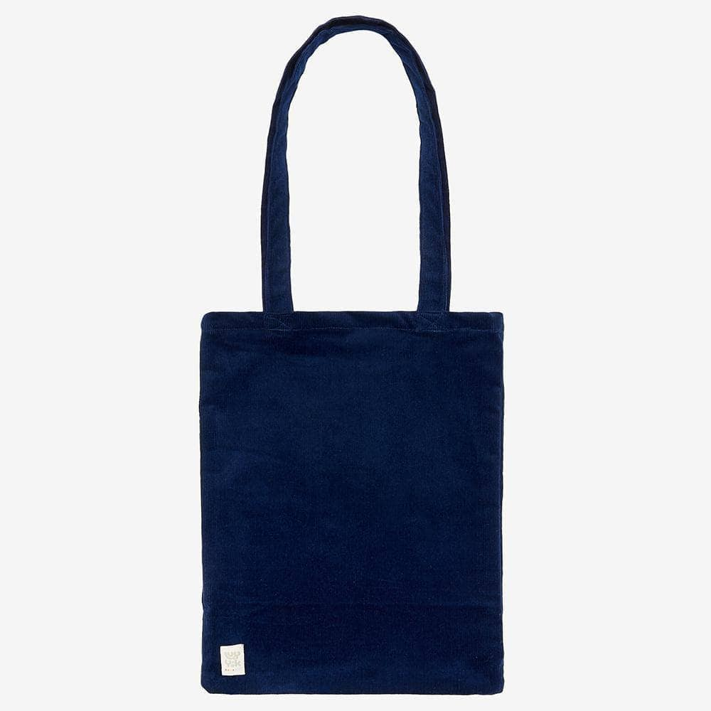 Lucy & Yak Bag ♻️'Idly' Recycled Corduroy Tote Bag in Sailor blue ♻️