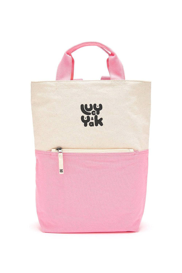 Lucy & Yak Bag 'Dylan' Organic Cotton Canvas Backpack in Pink