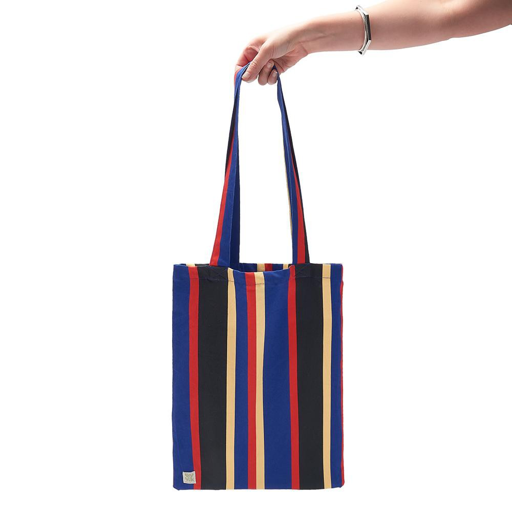 Lucy & Yak Bag ♻️'Idly' Recycled Limited Edition Striped Blue Tote Bag ♻️