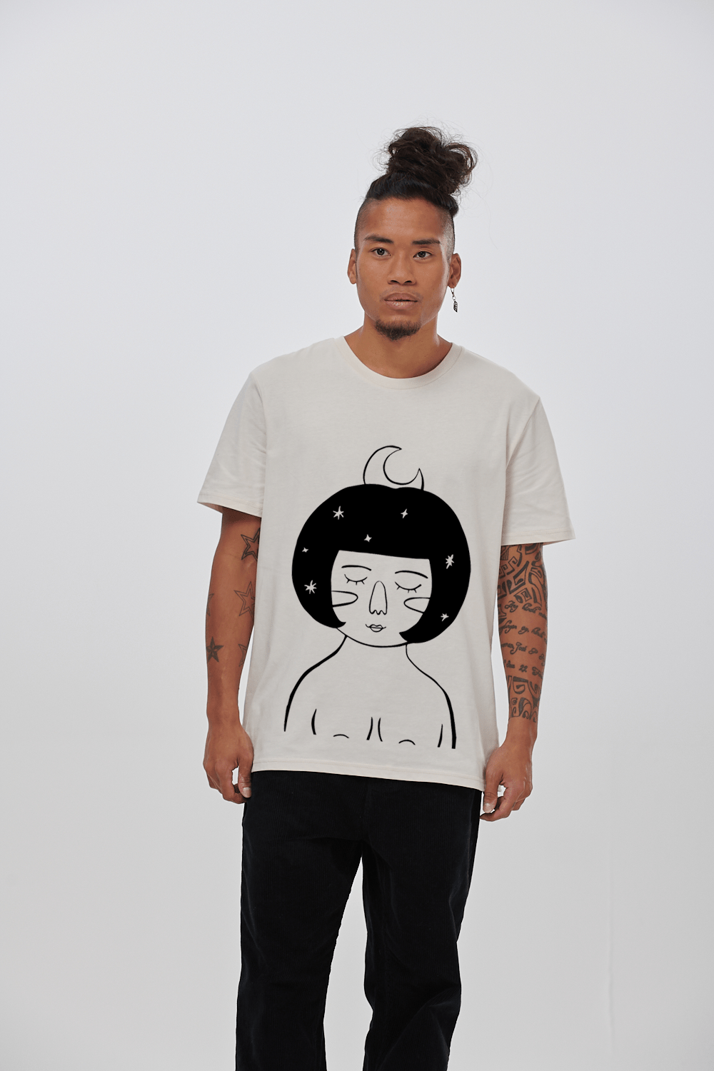 Lucy & Yak Tops 'Selene' Limited Edition Screen Printed T-Shirt By Rohanne Sanders