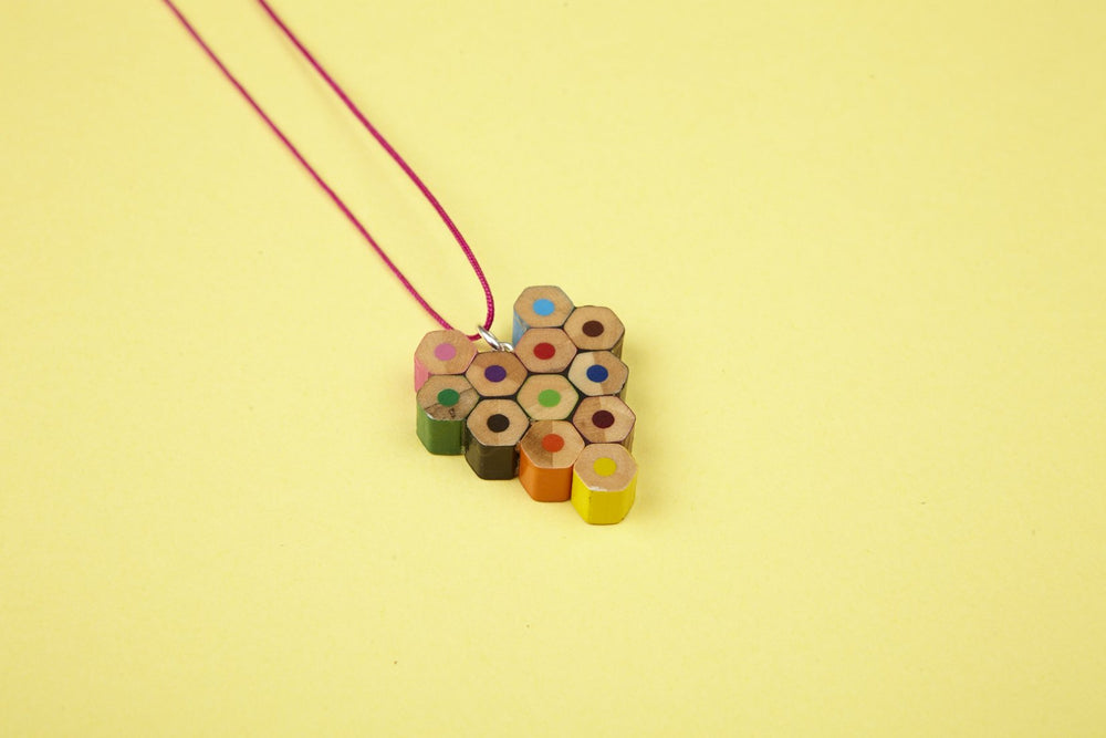 Lucy & Yak necklace Recycled Pencil Heart Necklace by Zinc White