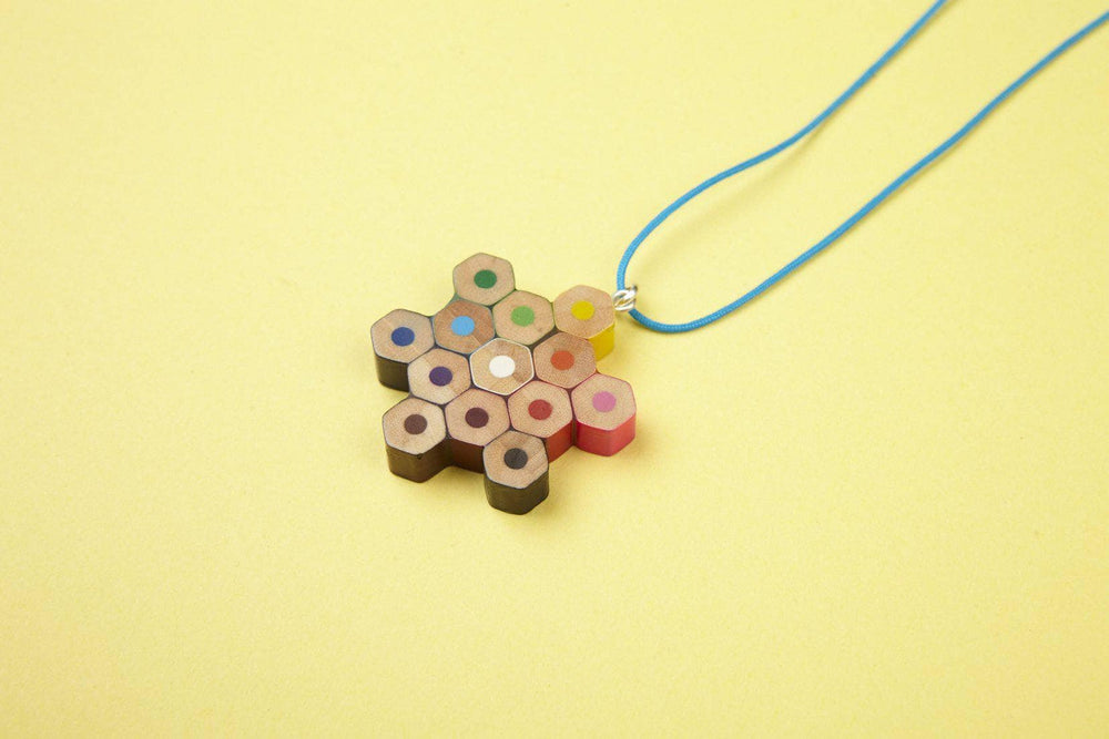 Recycled Pencil Star Necklace by Zinc White