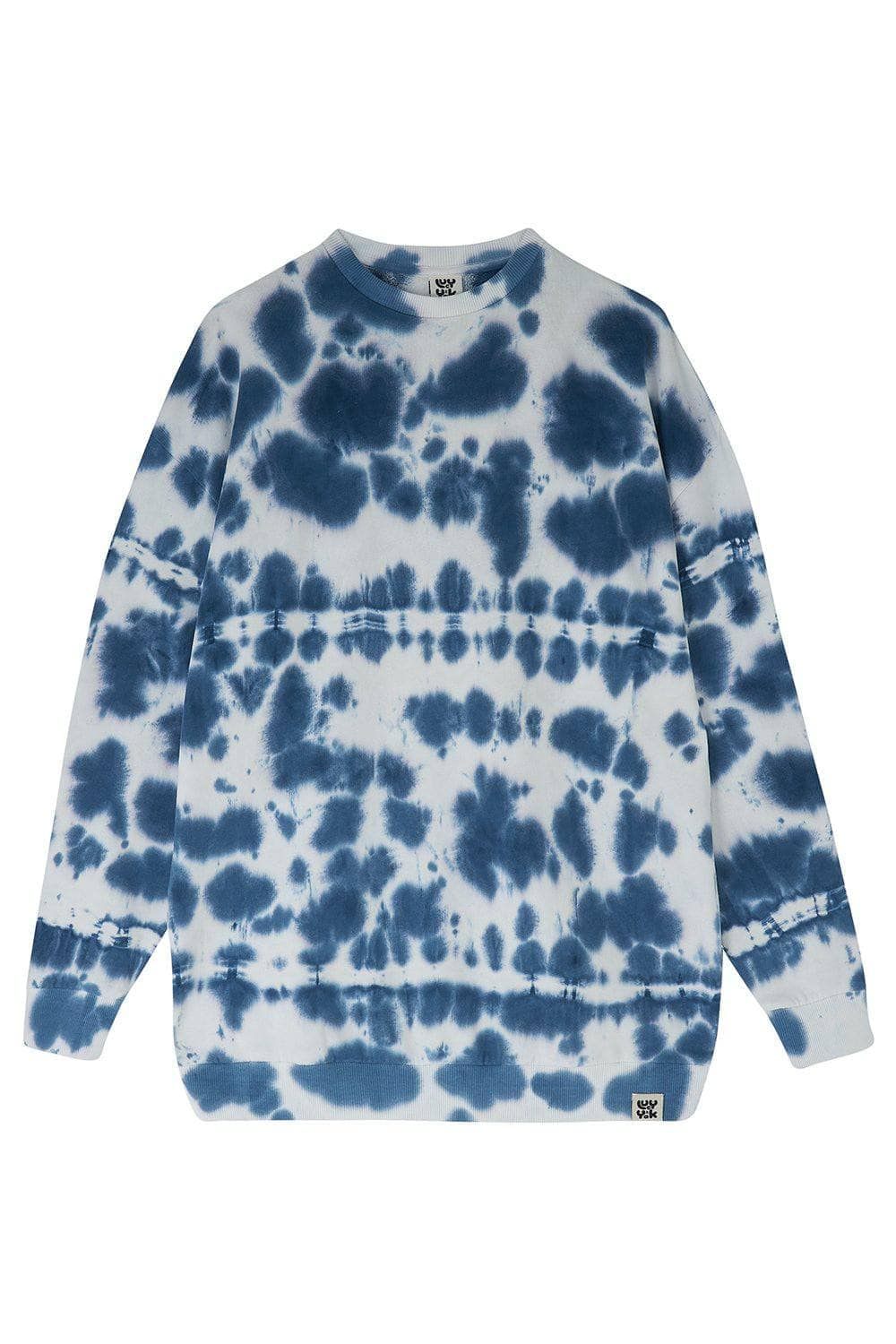 Lucy & Yak Sweatshirts Organic Cotton Sonny Sweater in Indigo Tie-Dye