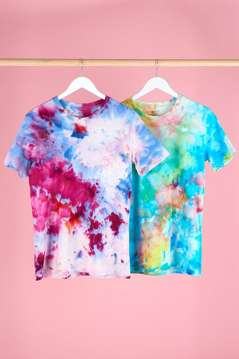 Lucy & Yak Tops Stanley Ice Dye Tee in Pink, Purple & Blue - We Are Hairy People x Lucy & Yak