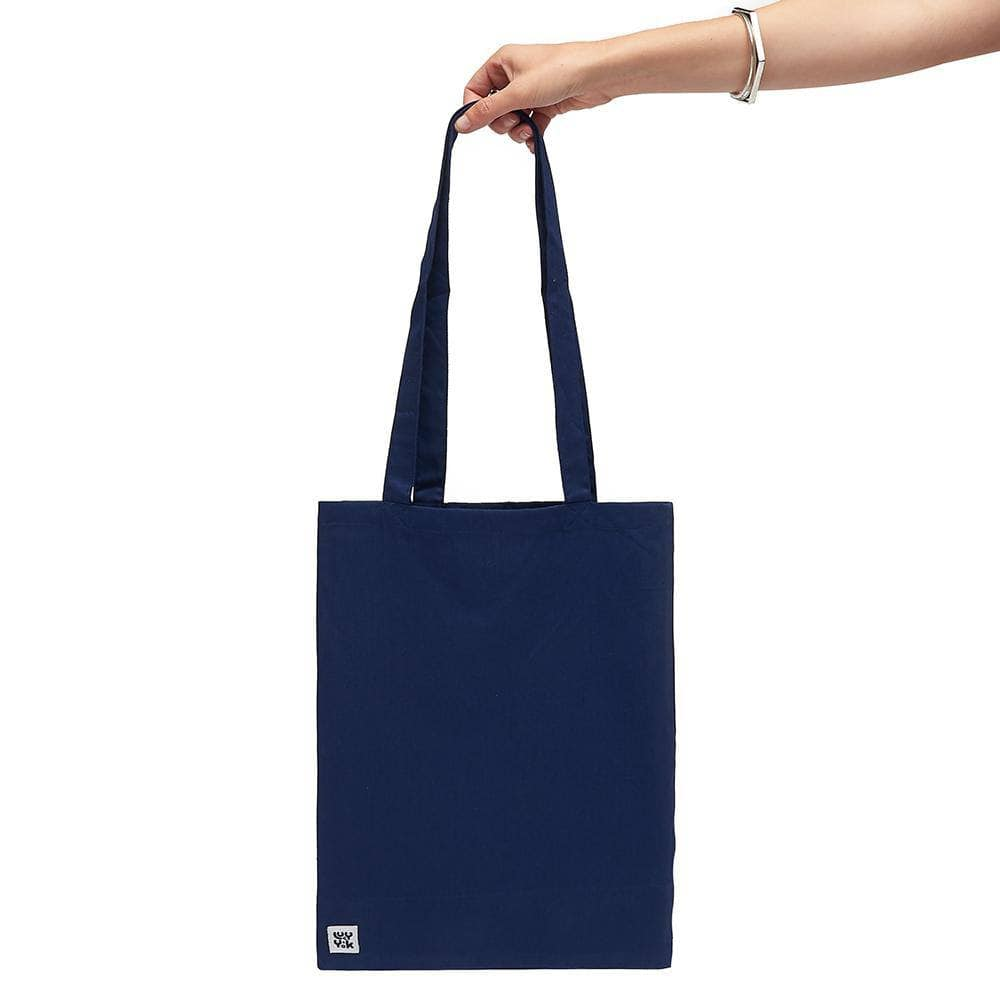 Lucy & Yak Bag 'Idly' Cotton Tote Bag In Navy Blue