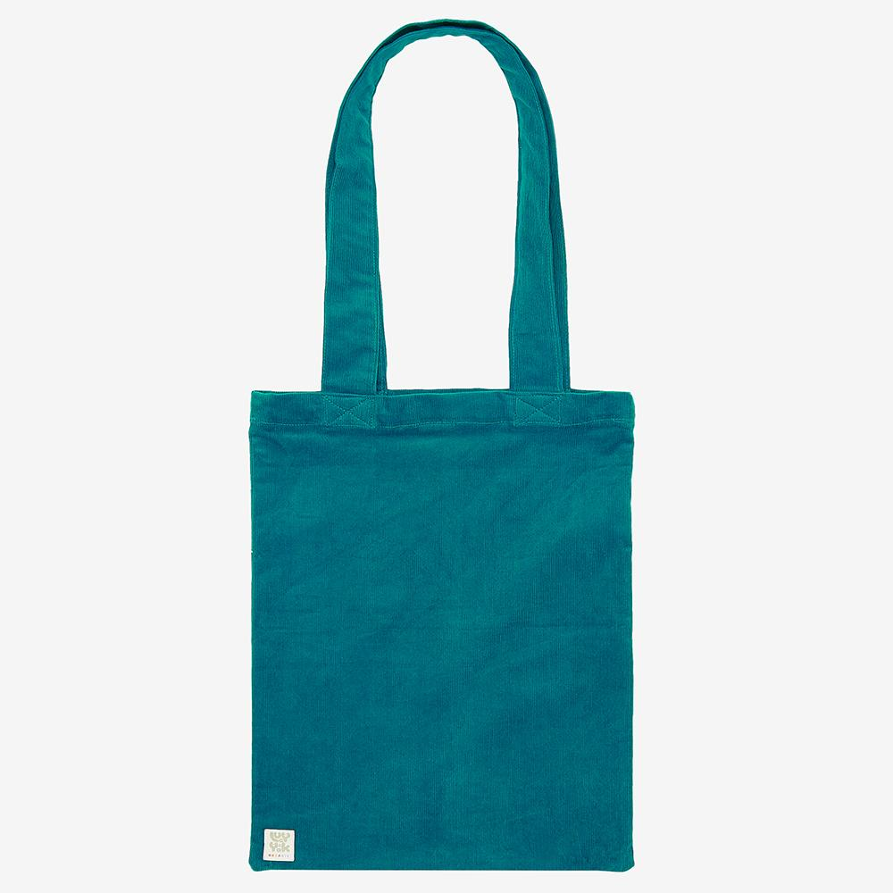 ♻️'Idly' Recycled Corduroy Tote Bag in Teal ♻️