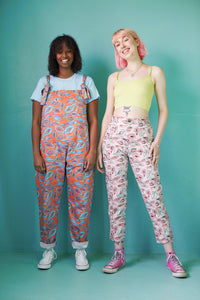 Lucy & Yak trousers 'Camden' High Waisted Trousers in Vulva Print