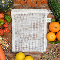 Lucy & Yak Bag Organic Cotton Mesh Produce Bag Pack of 3