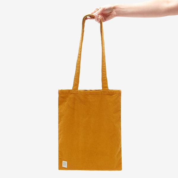 Lucy & Yak Bag ♻️'Idly' Recycled Corduroy Tote bag in Mustard ♻️