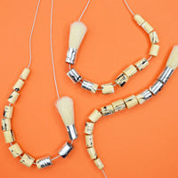 Recycled Paintbrush Necklace by Zinc White
