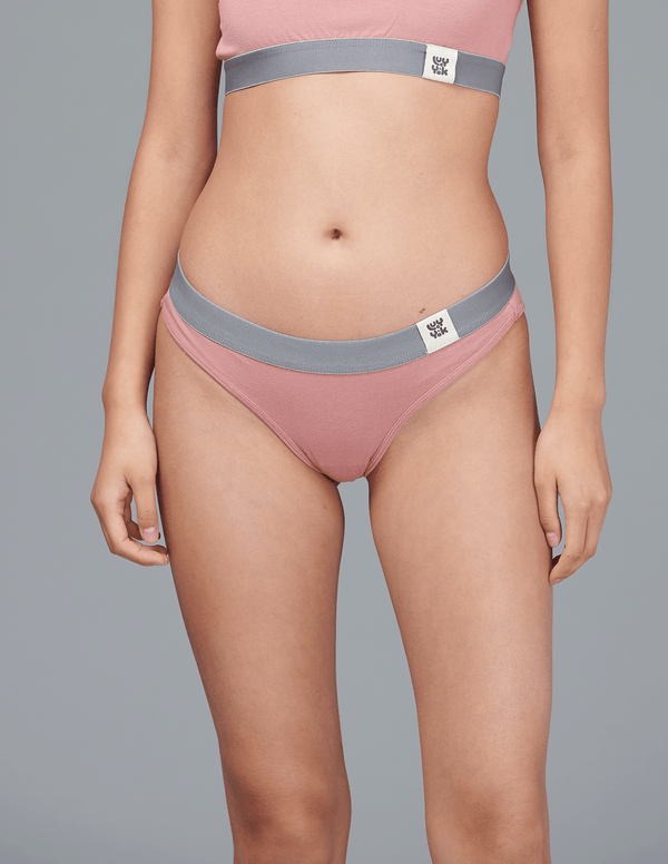 Lucy & Yak 'Ivy' Bamboo Brief In Ash Pink
