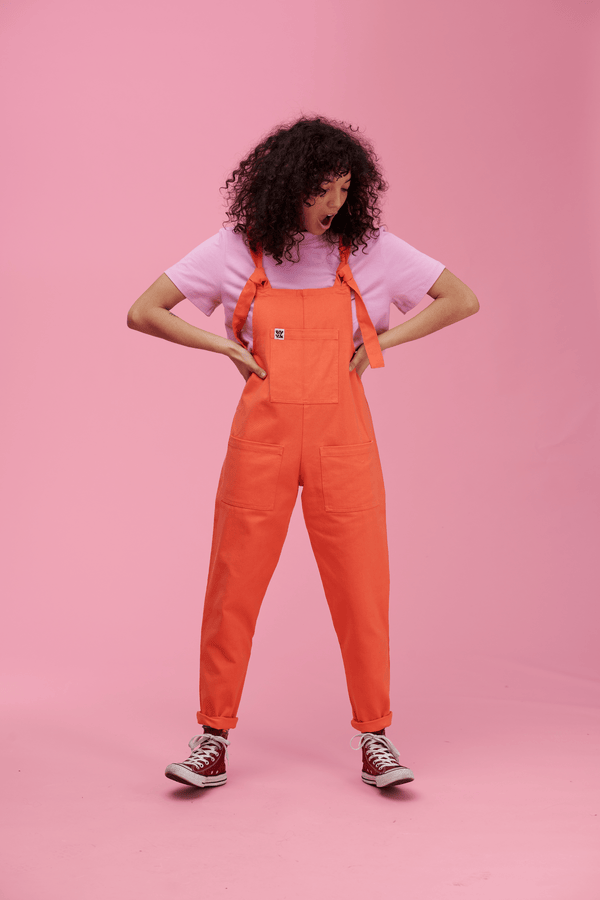 Lucy & Yak Dungarees Atlas Dungarees in Living Coral