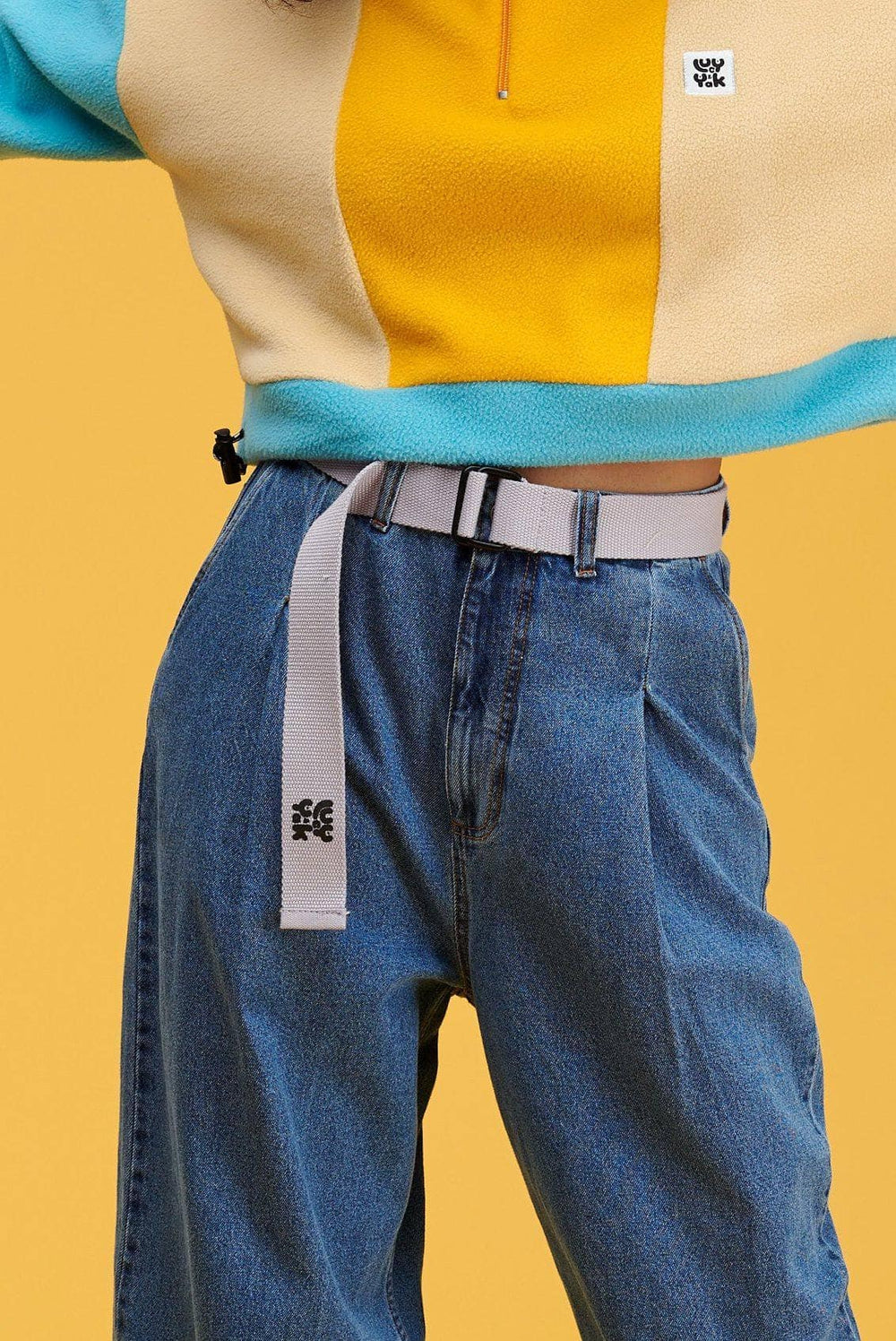 Lucy & Yak Belt The Sundaze Collection - 'Flynn' Woven Cotton Belt in Iris