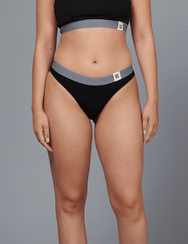 Lucy & Yak 'Ivy' Bamboo Brief In Black